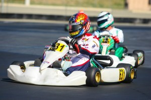 John Crow held off Erik Jackson in Masters Max