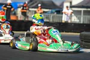 It was a dominating day for Christian Brooks in Junior Max, scoring the top position every session